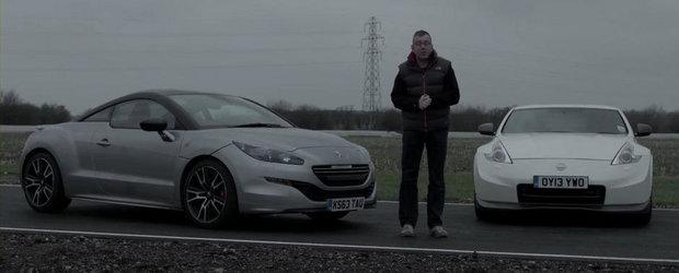 Peugeot RCZ R vs Nissan 370Z Nismo: Care-i mai rapid pe circuit?