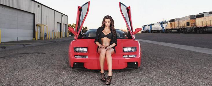 Pictorial sexy si provocator: Lamborghini Diablo VT si Jenna Balsley