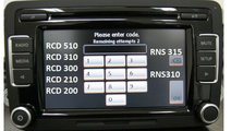 PIN Safe Decodare Radio VW RCD510 RCD310 RNS315 RN...