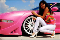 Pink Ford Probe by Ramona