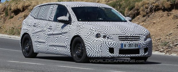 Pirmele poze spion cu viitorul Peugeot 308