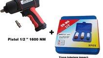 "Pistol pneumatic 1/2"" 1600 Nm + trusa tubulare imp..."