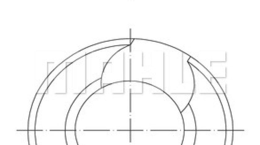 Piston MAN F 2000 Producator MAHLE ORIGINAL 228 14 00