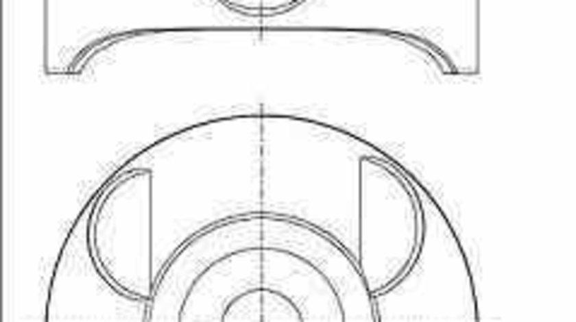 Piston MERCEDES-BENZ SPRINTER 46-t platou / sasiu 906 NÜRAL 87-433407-00