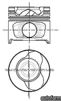 Piston SUZUKI JIMNY (FJ) NÜRAL 87-123400-10