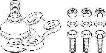 Pivot Articulatie sarcina ghidare MERCEDES-BENZ A-CLASS W169 TOPRAN 401 360