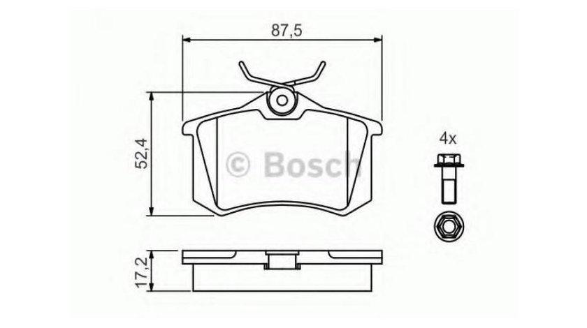 Placute frana Audi A3 (2004-2013) [8PA] #3 026305