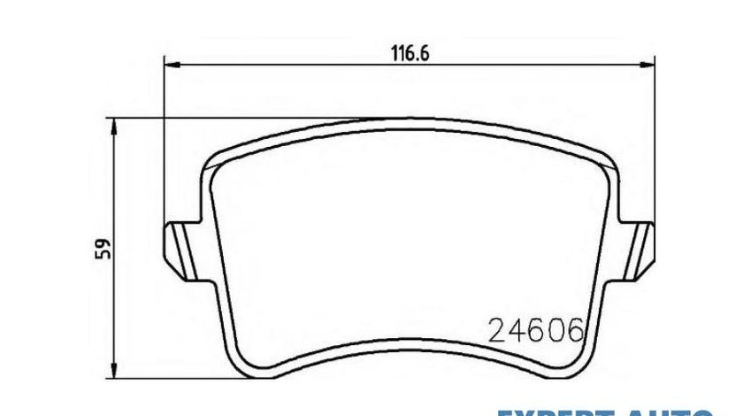 Placute frana Audi Q5 (2008->) [8RB] #2 0986494254