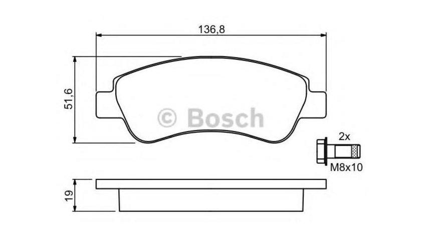 Placute frana Peugeot 206 (2009-2016)[T3E] #3 084010