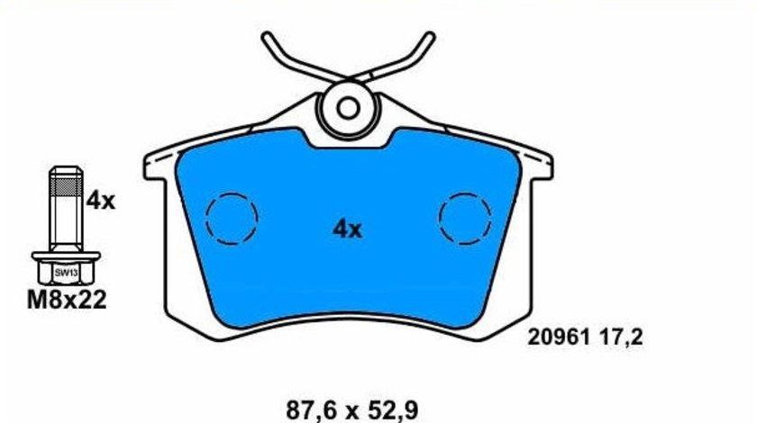 Placute frana spate ATE Audi A3 (8P1) 2003-2010
