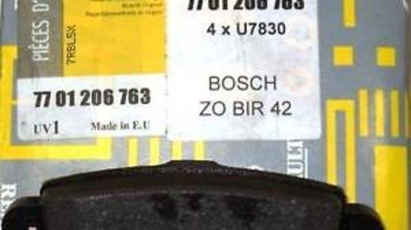 Placute frana spate Renault Master 2, Opel Movano, Nissan Interstar, Originale Renault 7701206763 Kft Auto