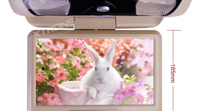 "PLAFONIERA AUTO CU MONITOR xtrons 9"" LCD/TFT Transmițător IR 1 Intrare Video/Audio"