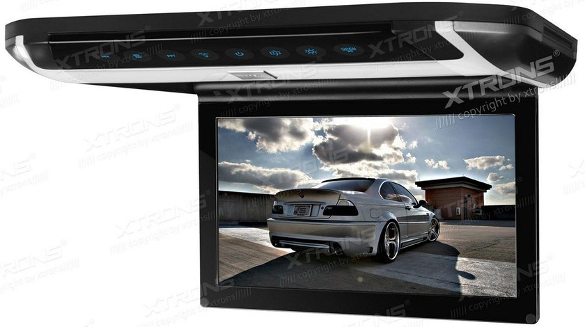 "PLAFONIERA AUTO CU MONITOR xtrons CR108HDS 10"" LCD/TFT Transmițător IR 1 Intrare Video/Audio"