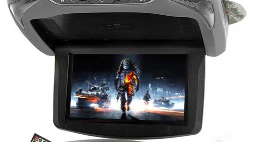 PLAFONIERA AUTO GRI CU MONITOR LCD 13,3'' DVD USB SD PLAYER JOCURI