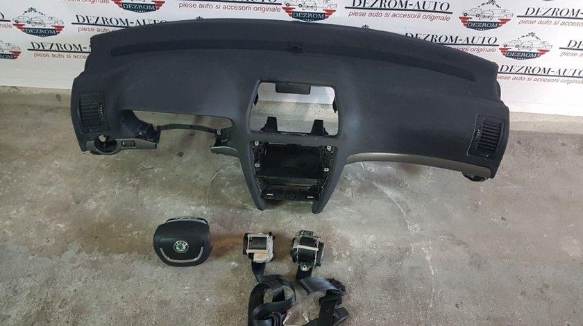 Plansa bord,airbag volan,airbag pasager,centuri siguranta skoda octavia 2 facelift