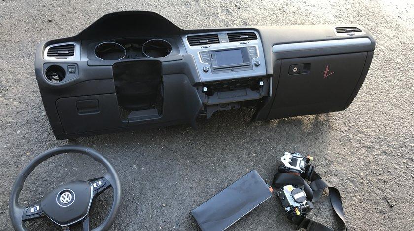 Plansa bord cu airbag si centuri Vw Golf 7 2013 2014 2015 2016