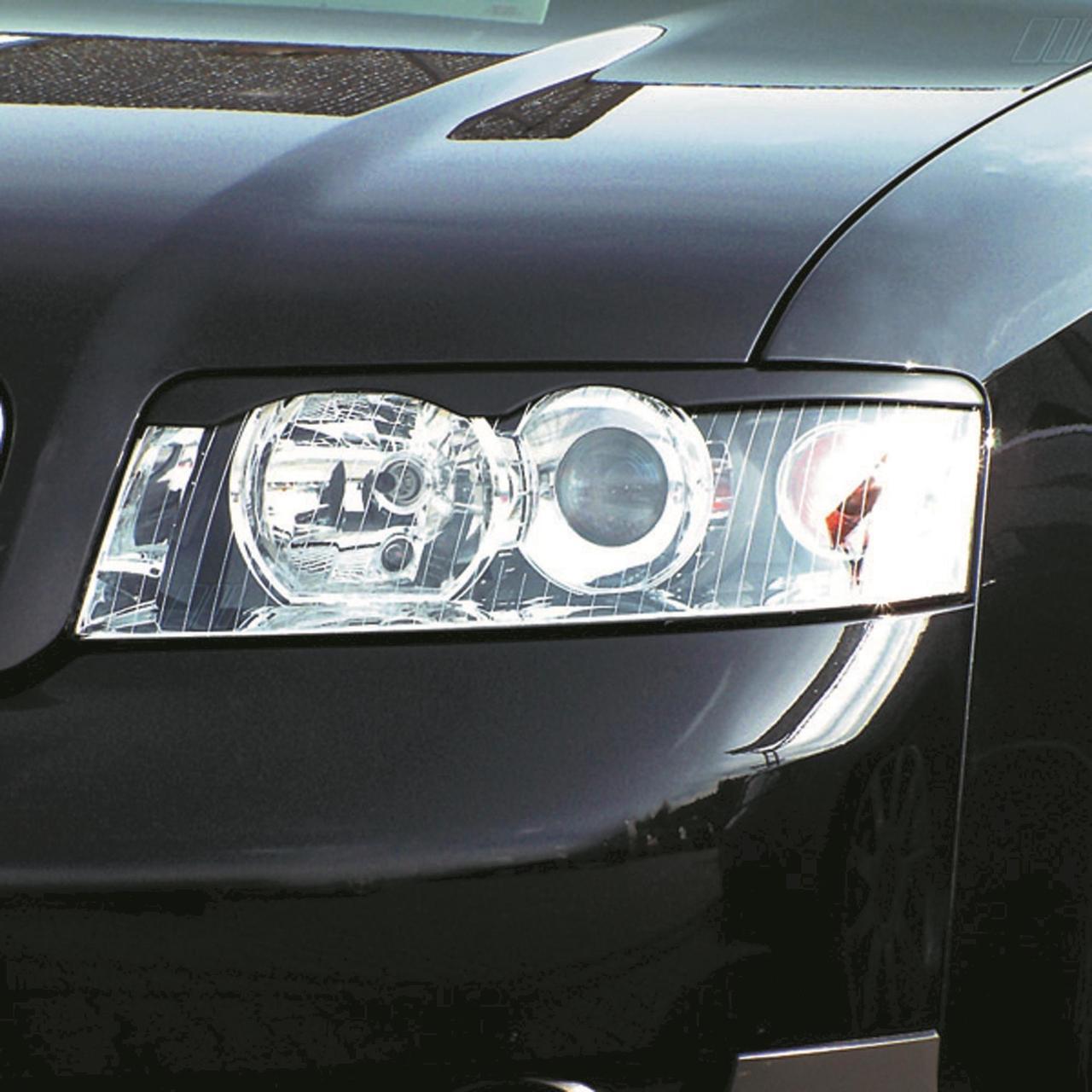 Pleoape far Audi A4 dupa 2002- negru plastic