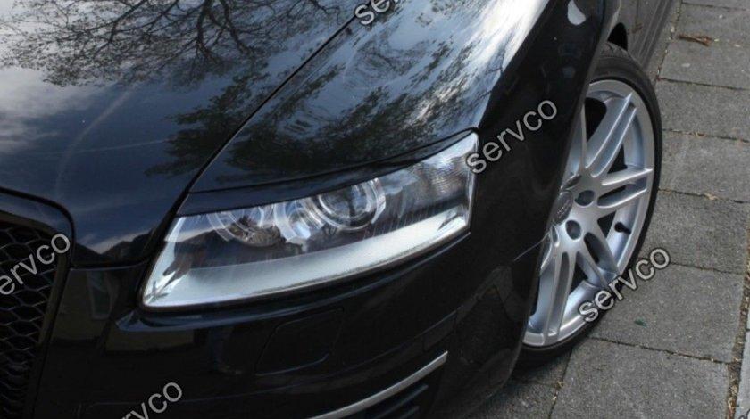Pleoape faruri Audi A6 C6 4F ABS S6 RS6 S line 2004-2011 v1