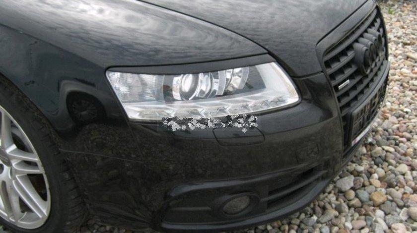 Pleoape faruri Audi A6 C6 4F ABS S6 RS6 S line 2004 2005 2006 2007 2008 2009 2010 2011 ver1