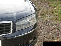 Pleoape faruri Audi A8 D3 2002-2009 plastic ABS ver1