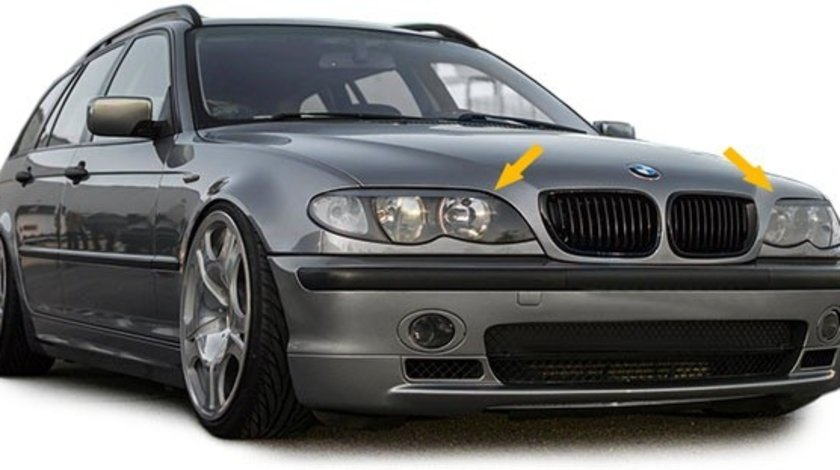 Pleoape faruri BMW E46 Sedan Touring 2001-2005 Facelift