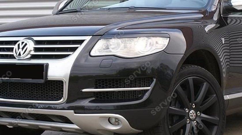 Pleoape faruri VW Touareg facelift plastic ABS 2006 2007 2008 2009 2010