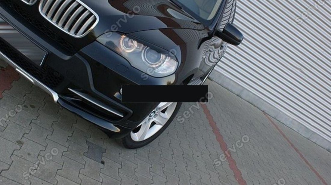 Pleoape ornament faruri BMW X5 E70 plastic ABS