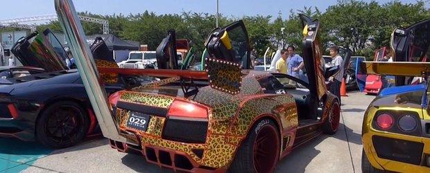 Poate cel mai nebun Lamborghini din lume are toba pana la etajul 1