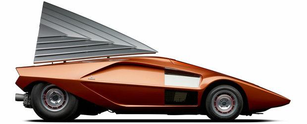 Poate cel mai nebun OZN cu 4 roti produs de om: Lancia Stratos HF ZERO by Bertone