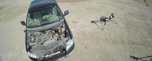 Poate 'ucide' un glont de calibrul 50 motorul V8 al unei camionete Ford?