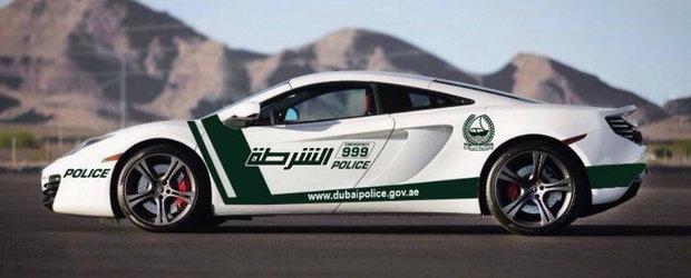Politia din Dubai alearga vitezomanii cu un McLaren de peste 200.000 euro