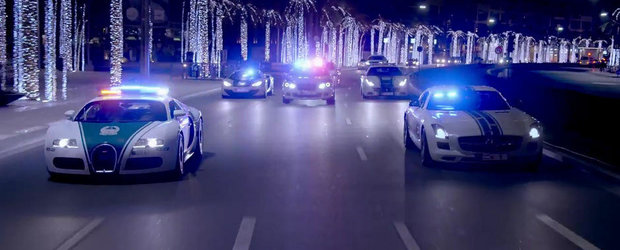Politia din Dubai ne arata inca o data flota sa de supermasini