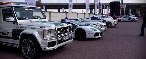 Politia din Dubai scoate supercarurile din dotare la o parada de neuitat