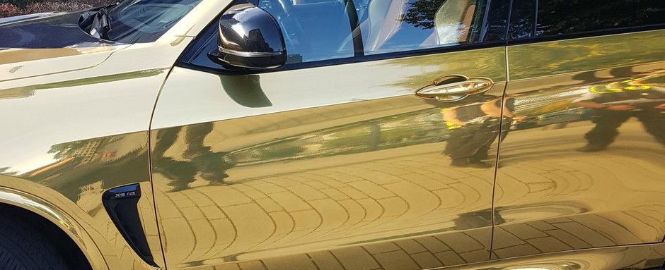 Politia germana nu se joaca. Acest BMW X5 M a fost confiscat pe loc din cauza foliei mult prea stralucitoare