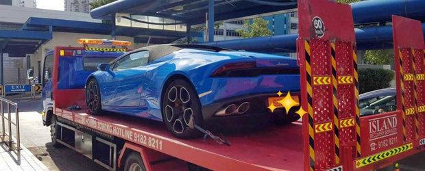 Politia i-a confiscat masina din cauza acestei depasiri