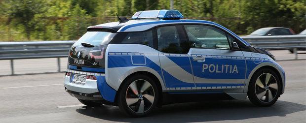 Politia Romana foloseste de azi o autospeciala electrica, un BMW i3