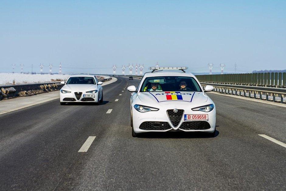 Politia Rutiera Ilfov primeste in dotare o autospeciala Alfa Romeo Giulia