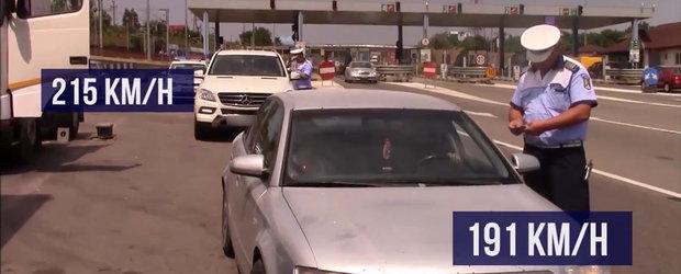 Politia Rutiera in actiune cu camere video si masini fara insemne pe autostrada