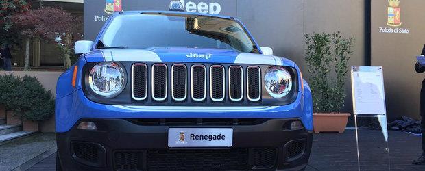 Politia vrea sa prinda infractorii la bordul unui Jeep de 120 CP