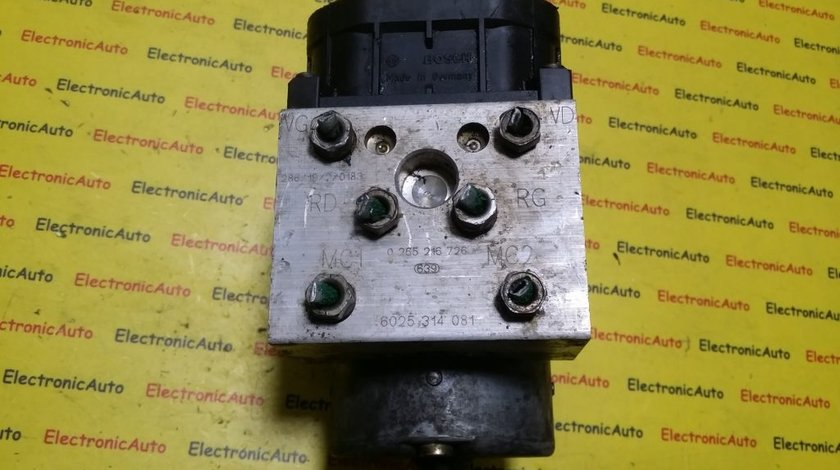 Pompa ABS Renault 6025314081, 0265216726