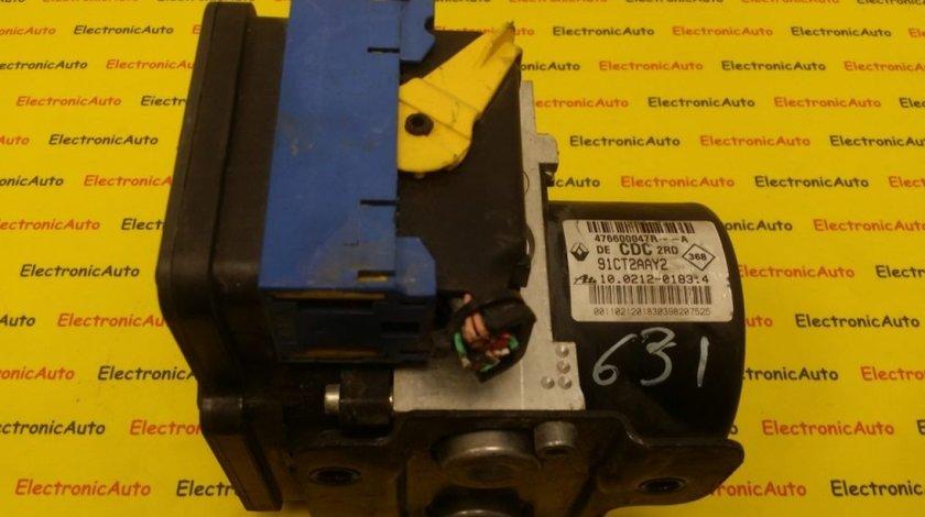 Pompa ABS Renault Laguna 3, 476600047RA, 91CT2AAY2, 10021201834, 000403166D1, 10096114193, 10061338261