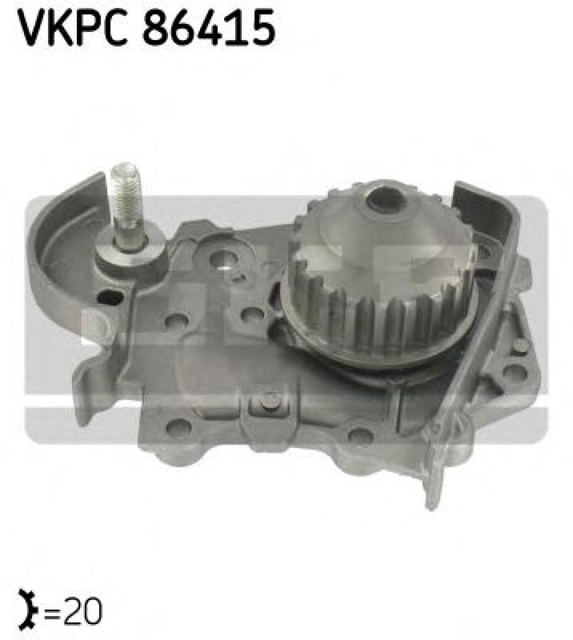 Pompa apa DACIA LOGAN MCV (KS) (2007 - 2016) SKF VKPC 86415 - produs NOU