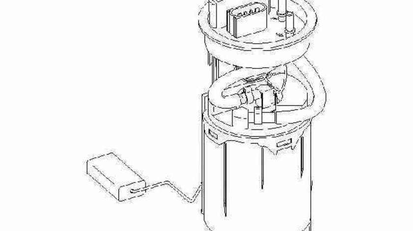 Pompa combustibil AUDI A3 8L1 TOPRAN 110 581