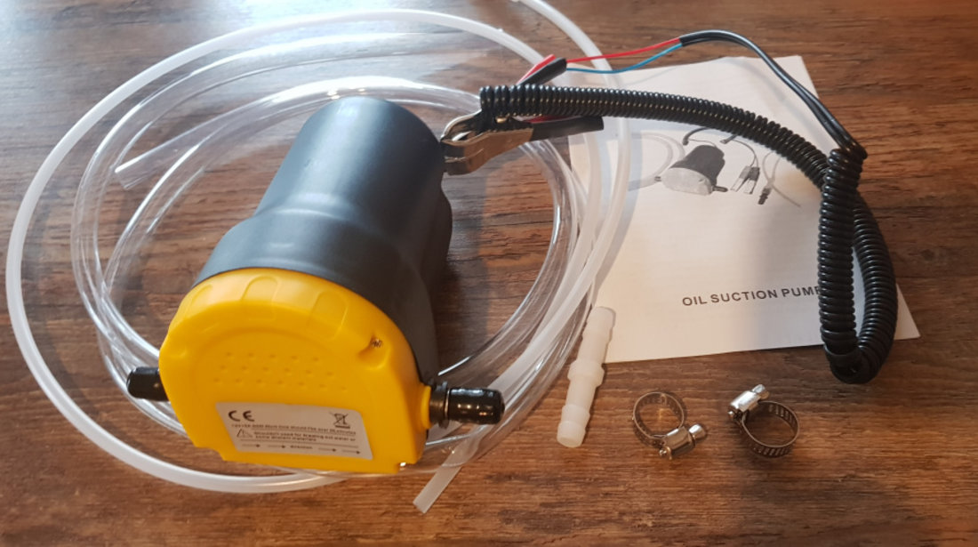 Pompa electrica transfer combustibil lichid ulei la 12v