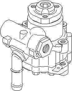 Pompa hidraulica servodirectie VW CADDY II combi 9K9B TOPRAN 112 447