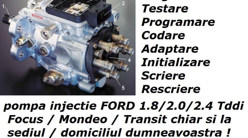 Pompa Injectie FORD Programare Codare Initializare Adaptare Imperechere