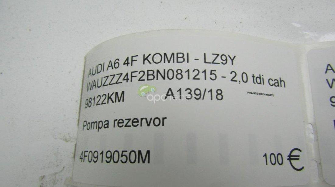 Pompa rezervor Audi A6 4F Facelift 2010 - 2,0Tdi cod 4F0918050m