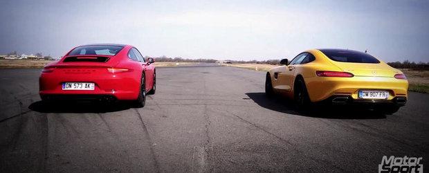 Porsche 911 GTS. Mercedes AMG GT S. DRAG RACE!