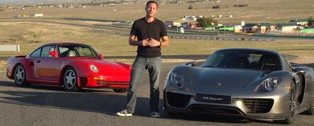 Porsche 959 fata in fata cu 918 Spyder: trecutul sau viitorul castiga?