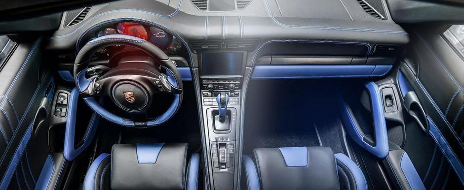 Porsche 991 cu interior Electric Blue: Un tuning special pentru o masina speciala